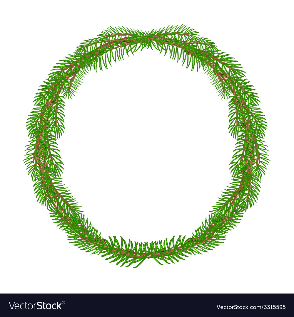 Christmas decoration wreath round frame vector | Price: 1 Credit (USD $1)