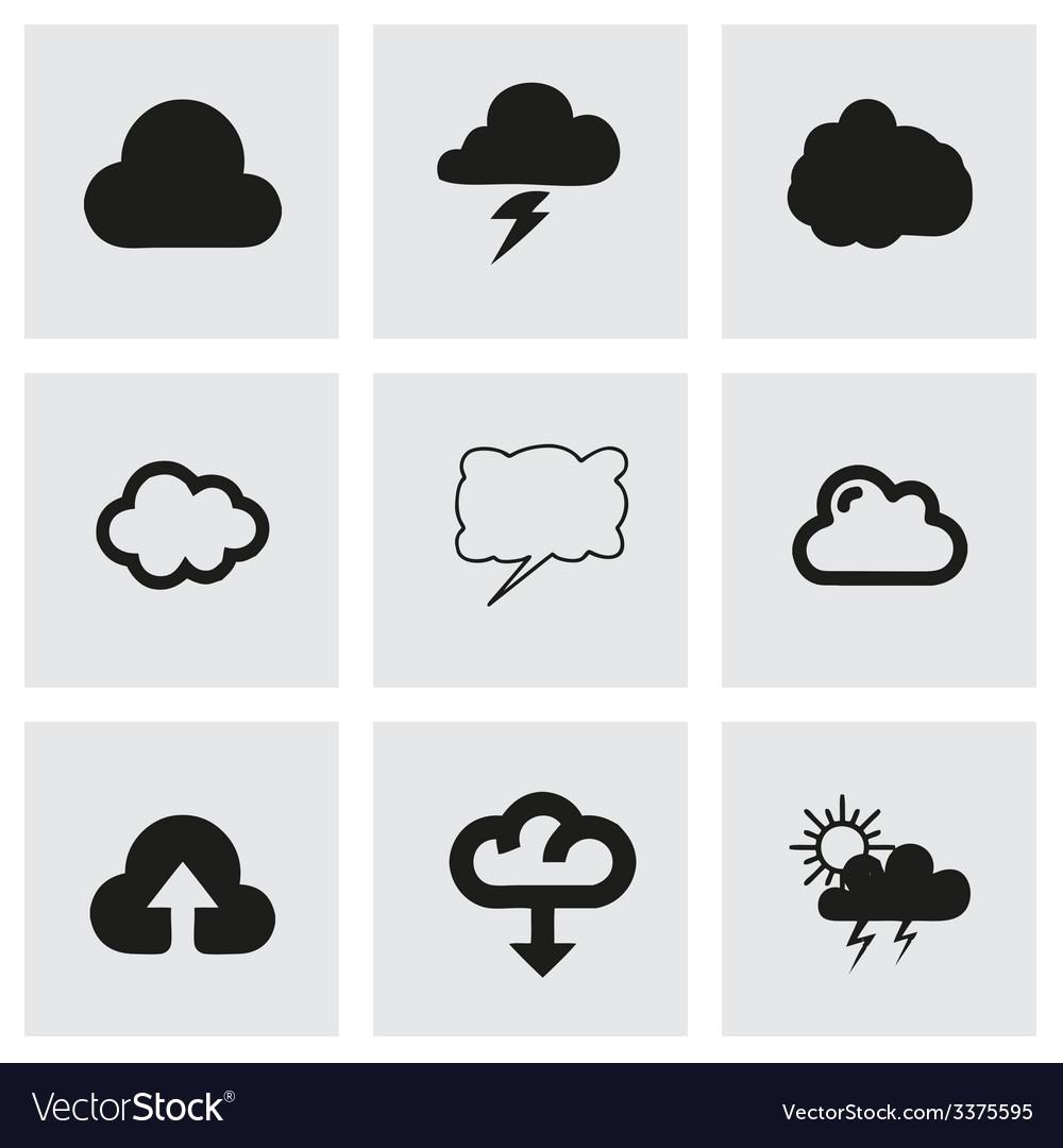 Cloud icon set vector   Price: 1 Credit (USD $1)