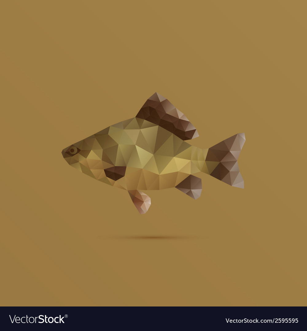 Fish made with triangles vector | Price: 1 Credit (USD $1)