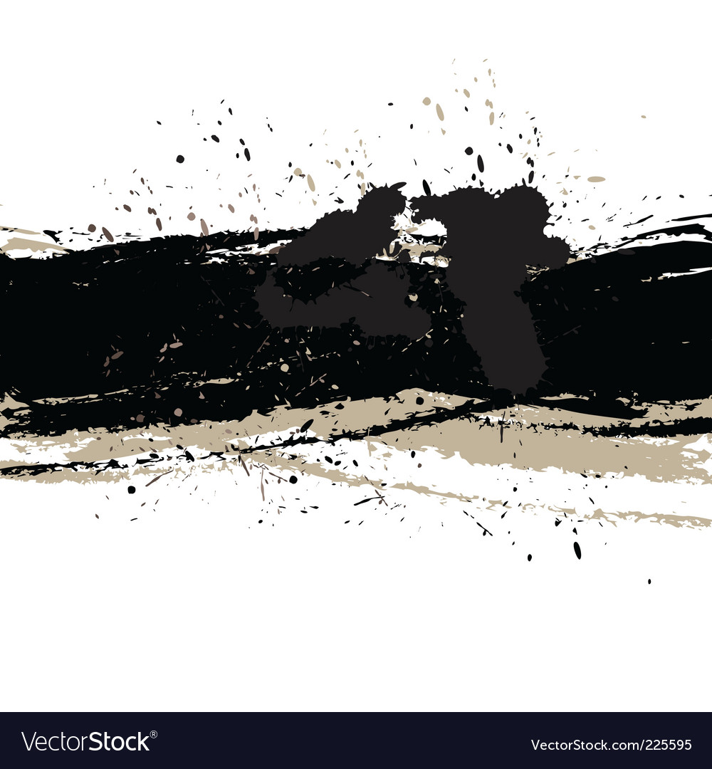 Grunge background with ink vector | Price: 1 Credit (USD $1)