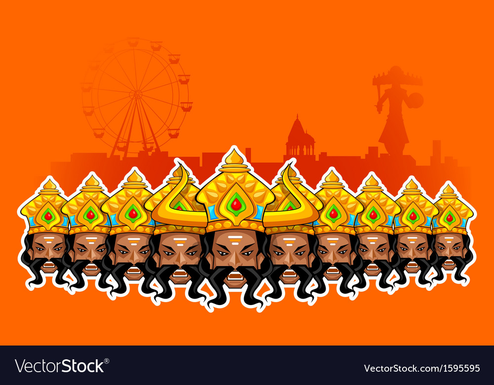 Happy dussehra holiday vector | Price: 1 Credit (USD $1)
