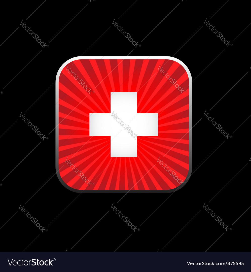 Icon white cross vector | Price: 1 Credit (USD $1)