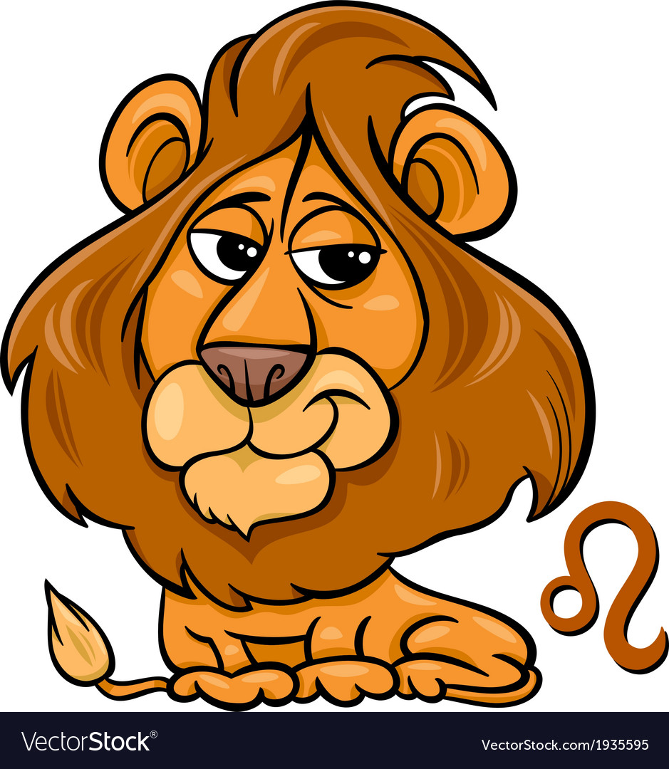 Leo or the lion zodiac sign vector   Price: 1 Credit (USD $1)