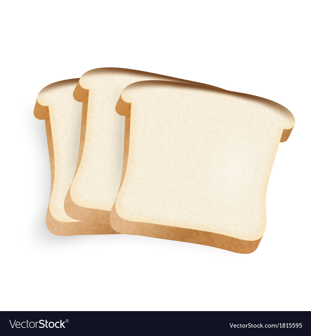 Pieces of bread on a white background vector | Price: 1 Credit (USD $1)