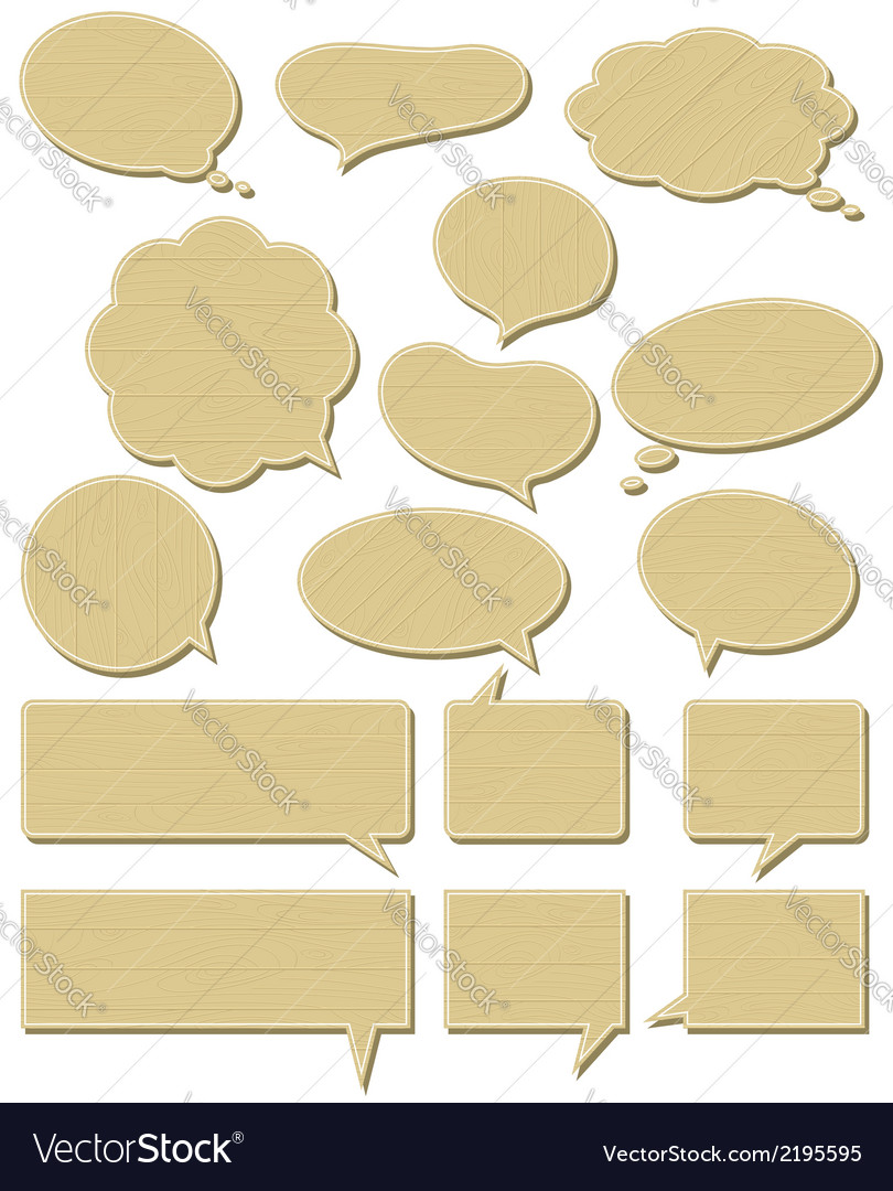 Sixteen wooden labels bubble vector | Price: 1 Credit (USD $1)