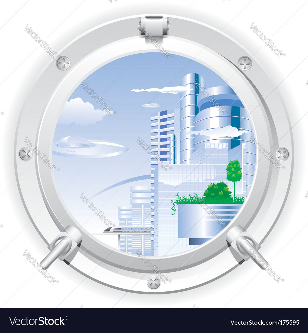 Steel porthole vector | Price: 3 Credit (USD $3)