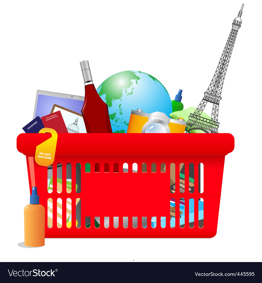 Vacation shopping cart vector | Price: 3 Credit (USD $3)