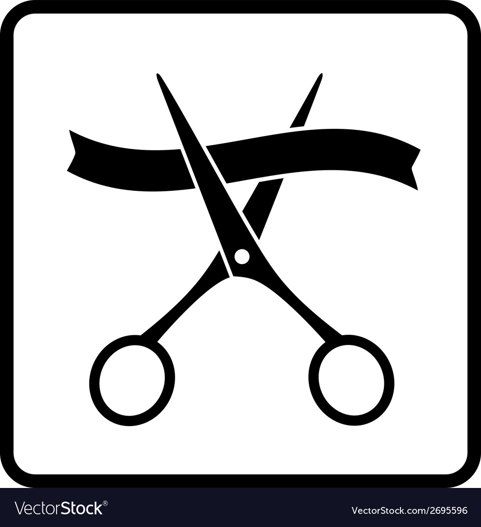 Black scissors and ribbon vector | Price: 1 Credit (USD $1)