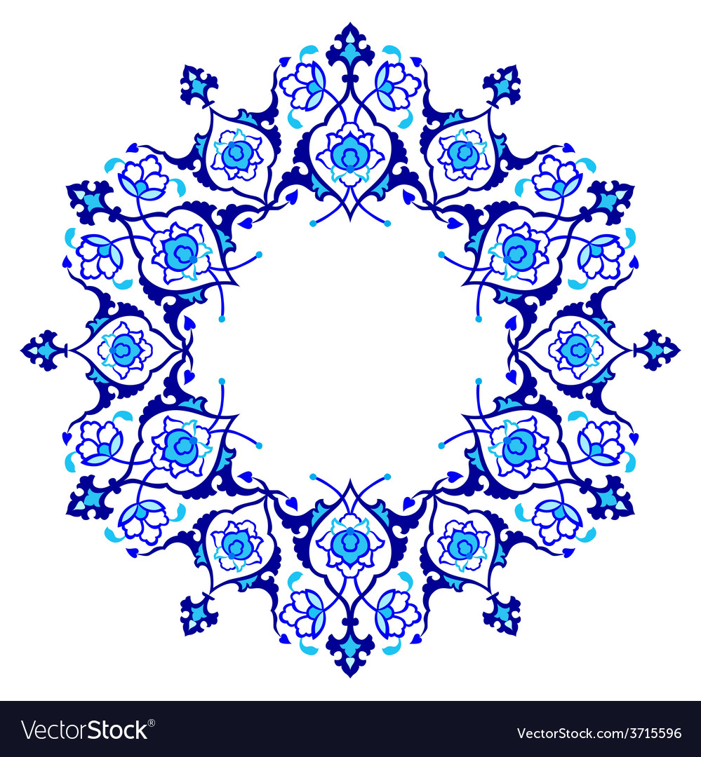 Blue artistic ottoman pattern series fifty nine vector   Price: 1 Credit (USD $1)