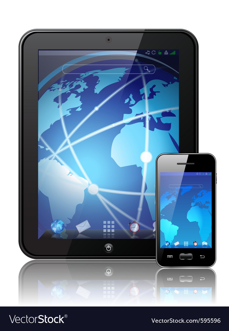 Digital tablet vector | Price: 3 Credit (USD $3)