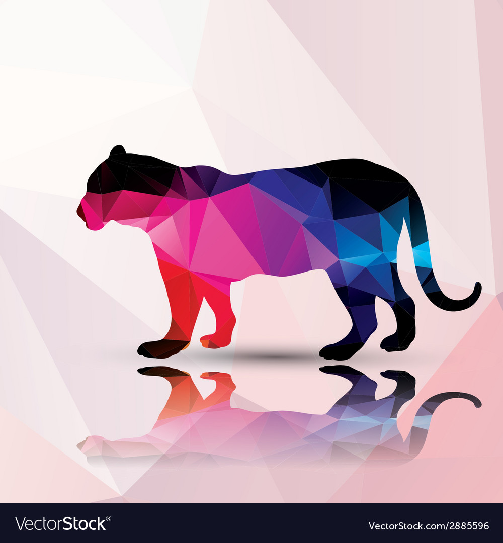 Geometric polygonal leopard pattern design vector | Price: 1 Credit (USD $1)