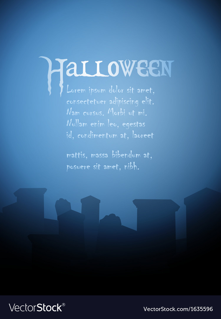 Halloween tombstone background vector | Price: 1 Credit (USD $1)
