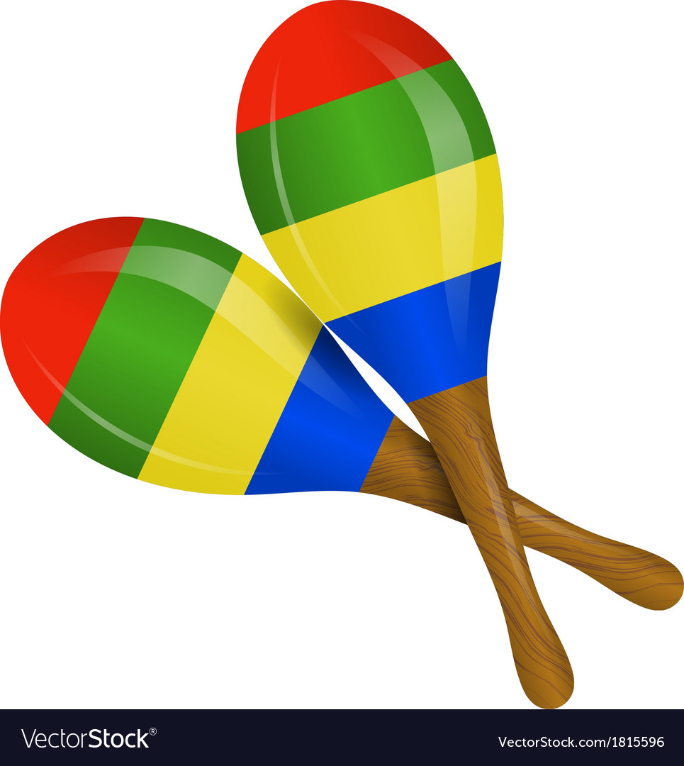 Image of maracas on a white background vector | Price: 1 Credit (USD $1)