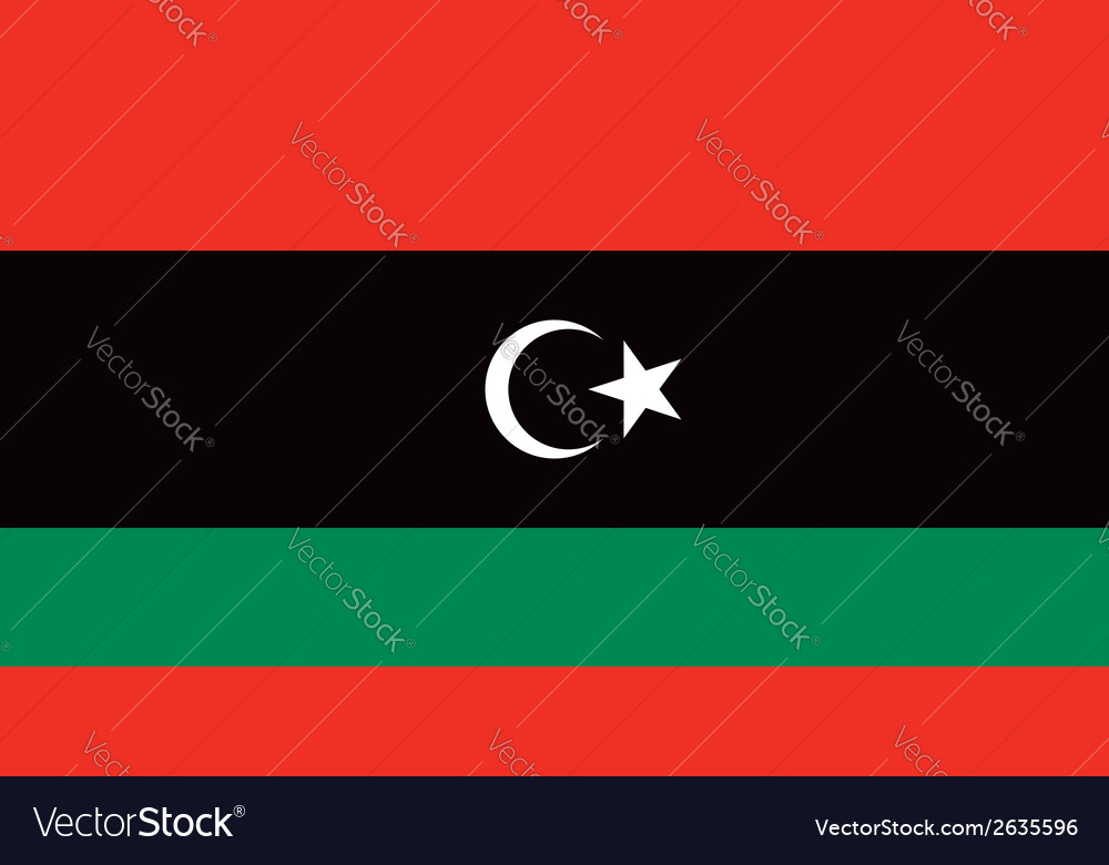 Libya flag vector | Price: 1 Credit (USD $1)