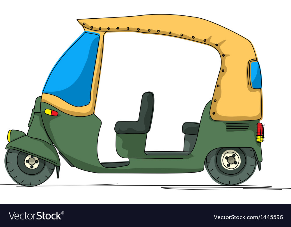Rickshaw cartoon vector | Price: 1 Credit (USD $1)