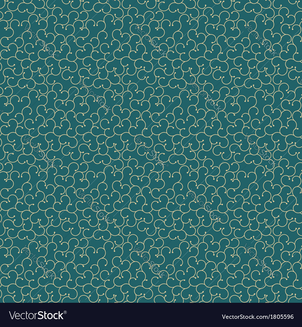 Seamless background with swirly abstract plant vector | Price: 1 Credit (USD $1)