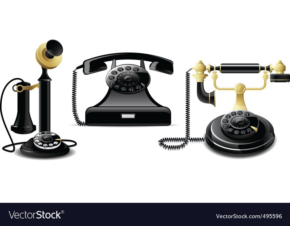 Vintage telephones vector   Price: 1 Credit (USD $1)