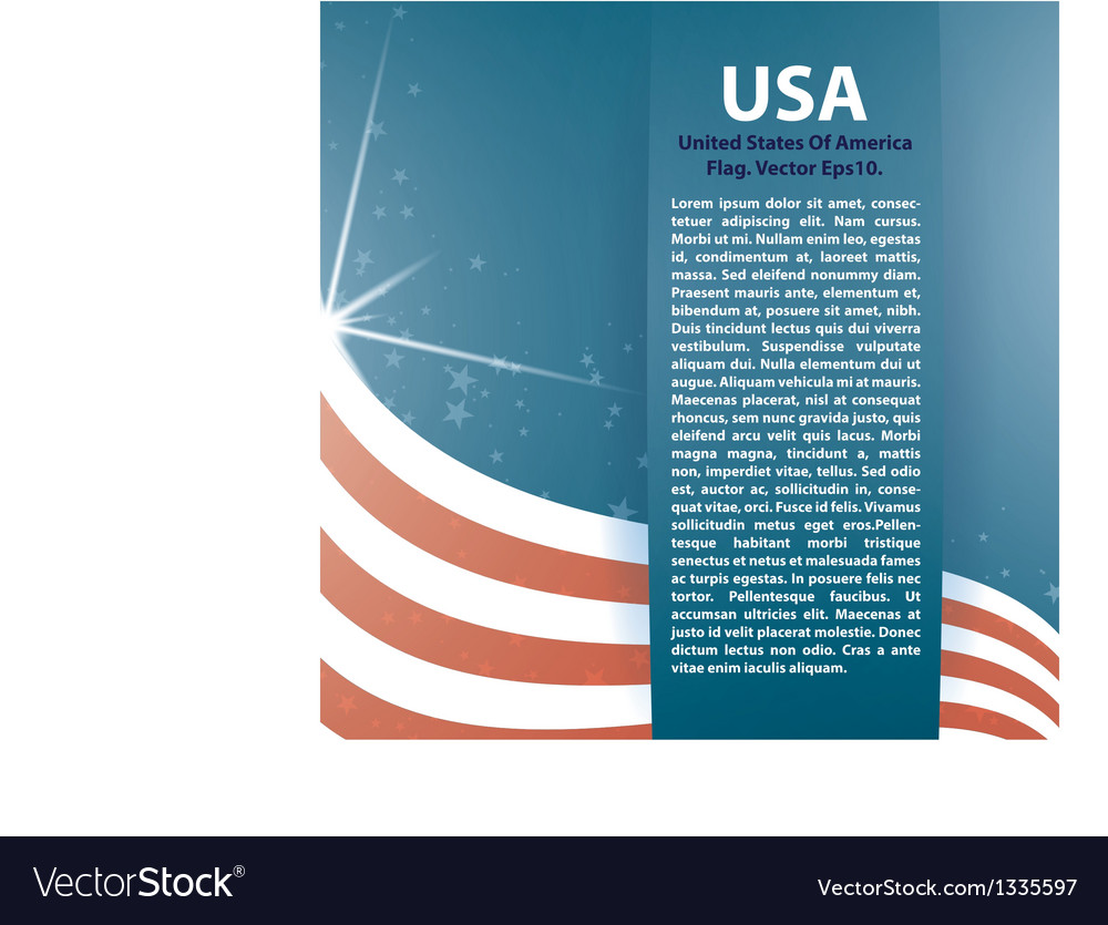 Background usa flag and text vector | Price: 1 Credit (USD $1)