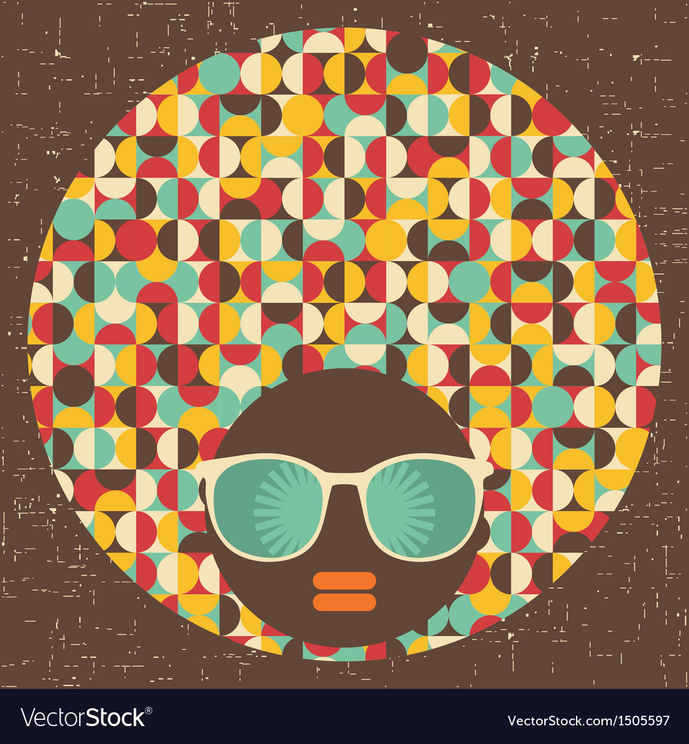 Black head woman with strange pattern vector | Price: 1 Credit (USD $1)