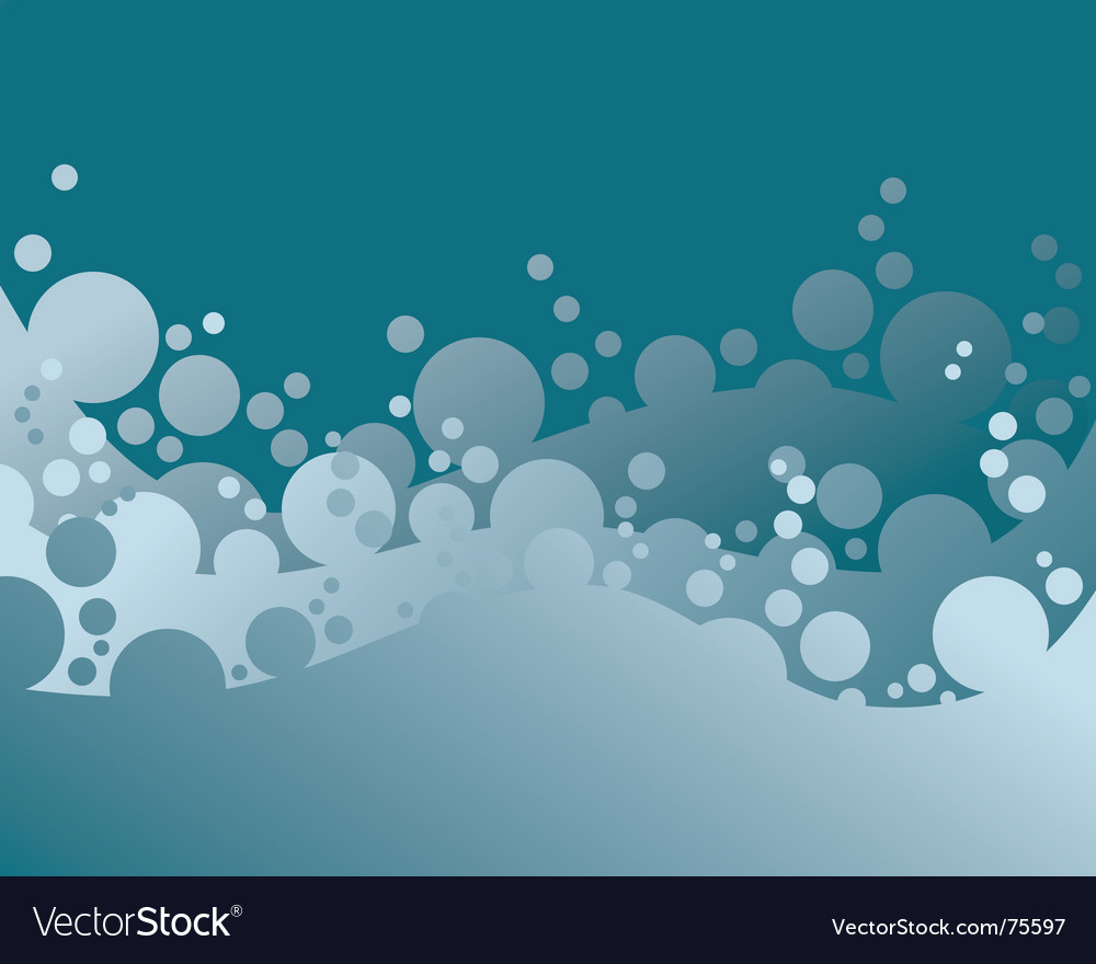 Blue abstract background with bubbles vector | Price: 1 Credit (USD $1)