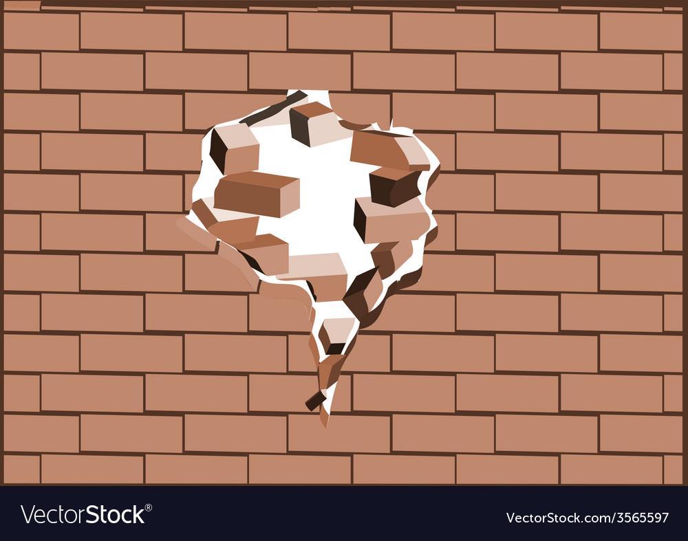 Breaking walls vector | Price: 1 Credit (USD $1)