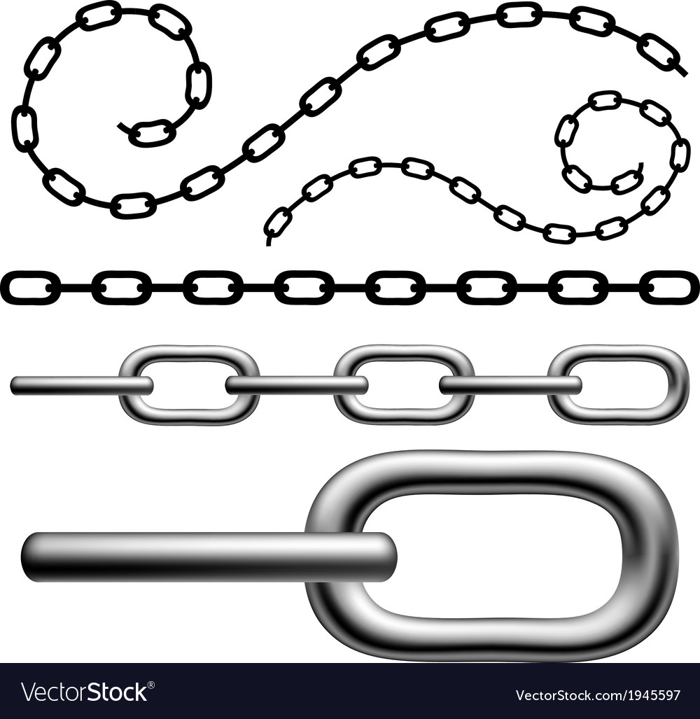 Chain set vector | Price: 1 Credit (USD $1)