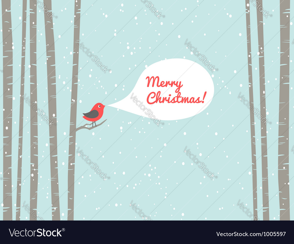 Christmas bird vector | Price: 1 Credit (USD $1)