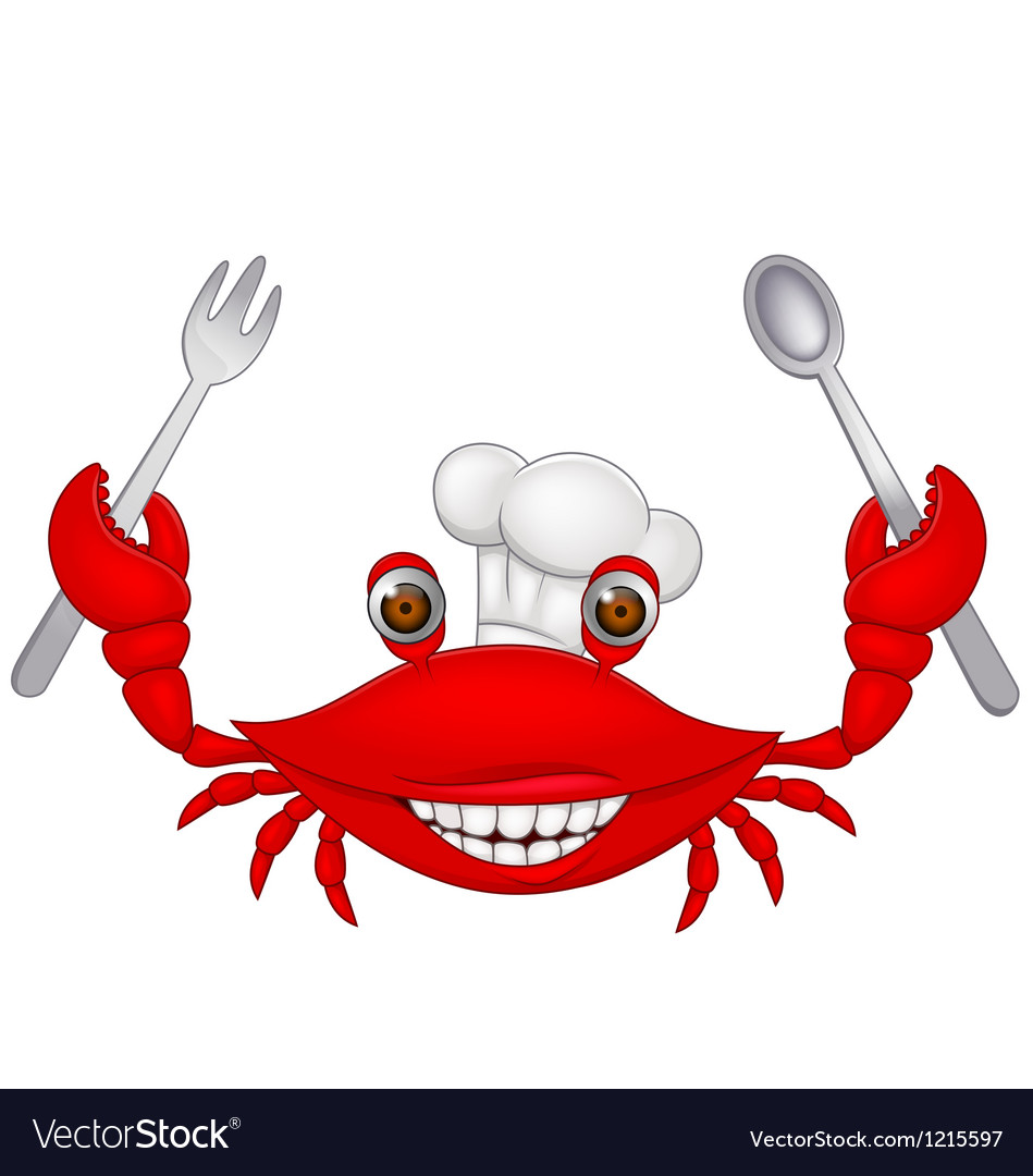 Crab chef cartoon vector | Price: 1 Credit (USD $1)