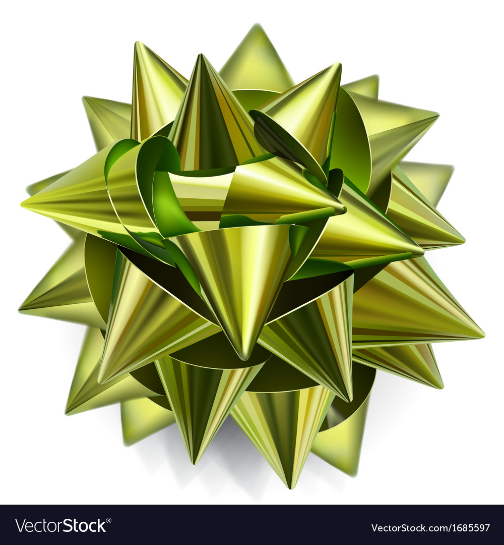 Green bow of shiny ribbon vector | Price: 1 Credit (USD $1)