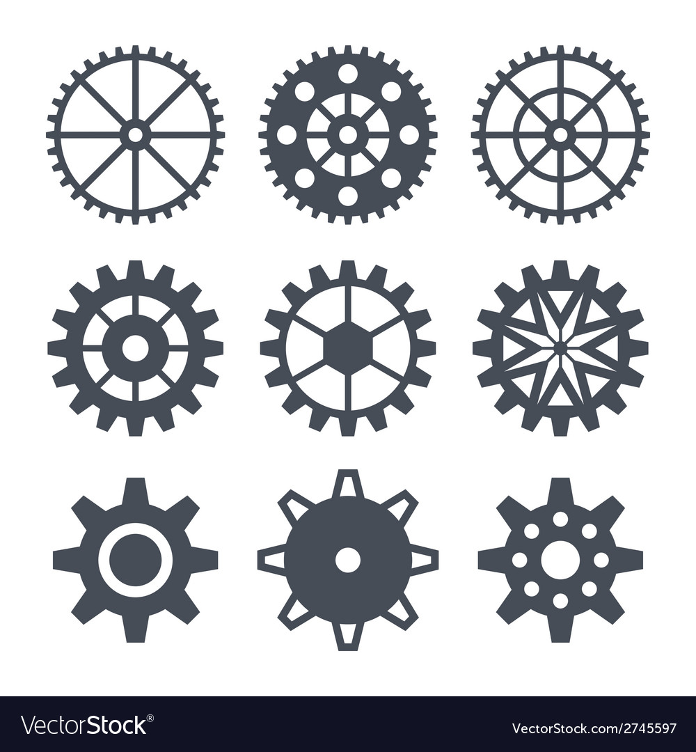Icons cogwheel vector | Price: 1 Credit (USD $1)