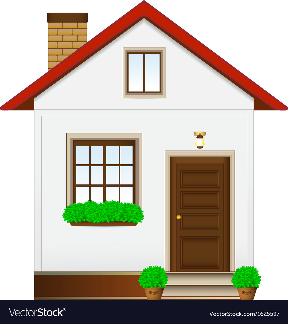 Isolated country house vector | Price: 1 Credit (USD $1)