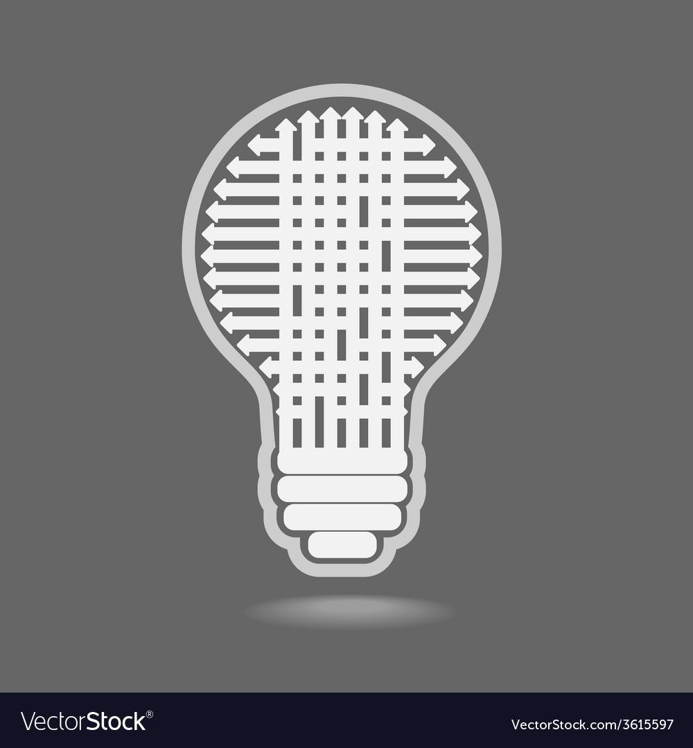 Light bulb idea vector   Price: 1 Credit (USD $1)