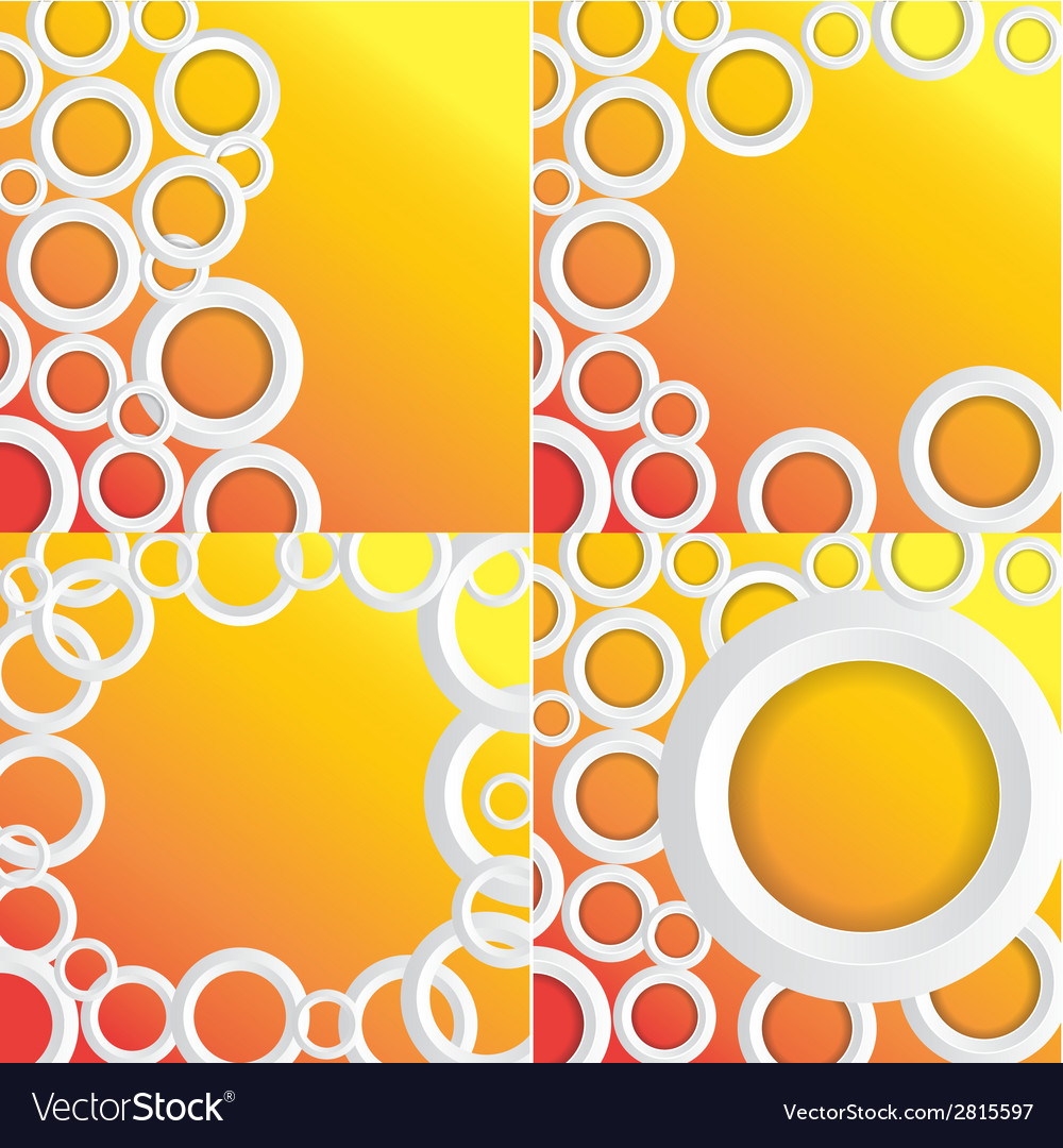 Set circles background with place for your text vector | Price: 1 Credit (USD $1)