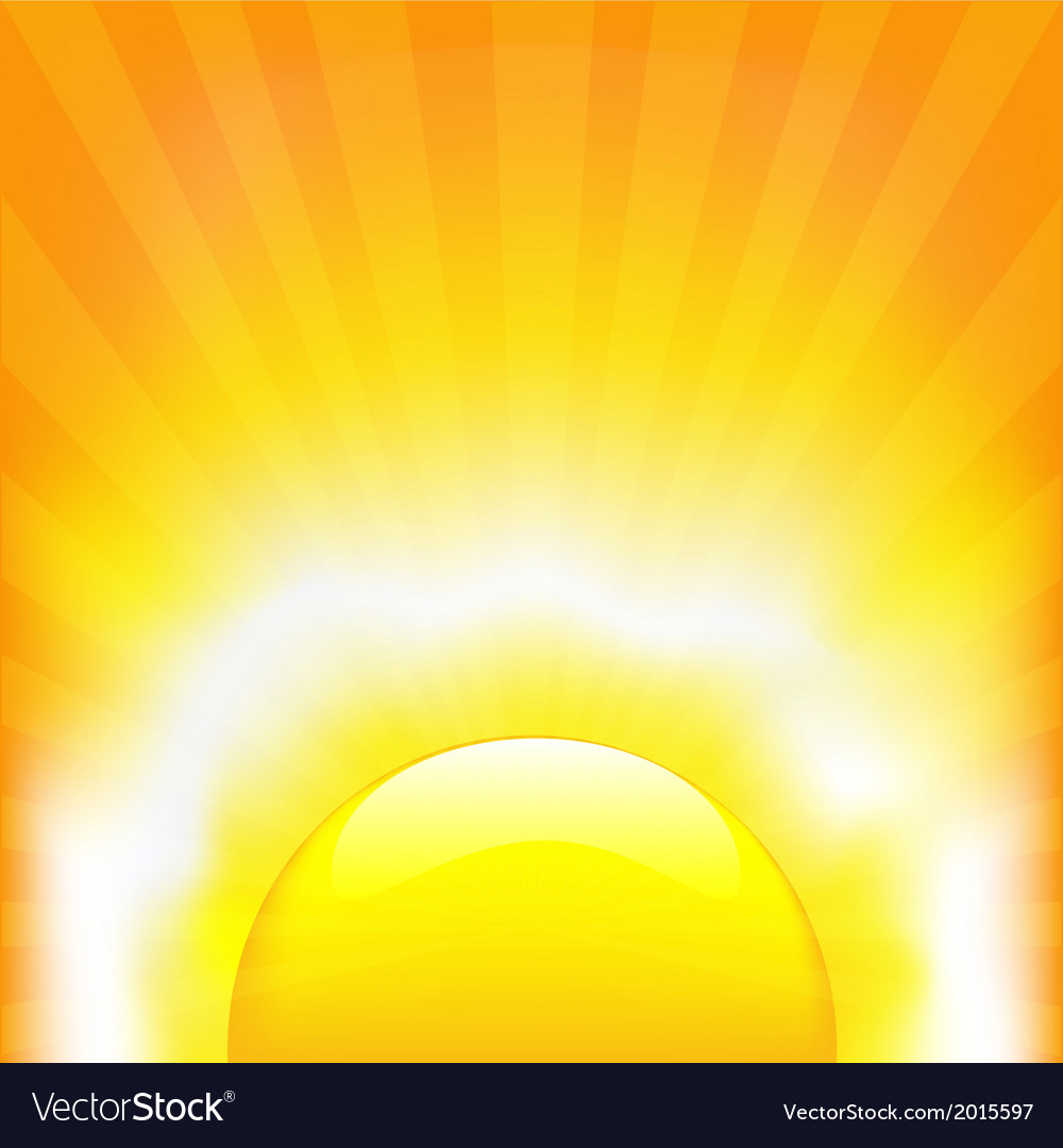 Shining sun vector | Price: 1 Credit (USD $1)
