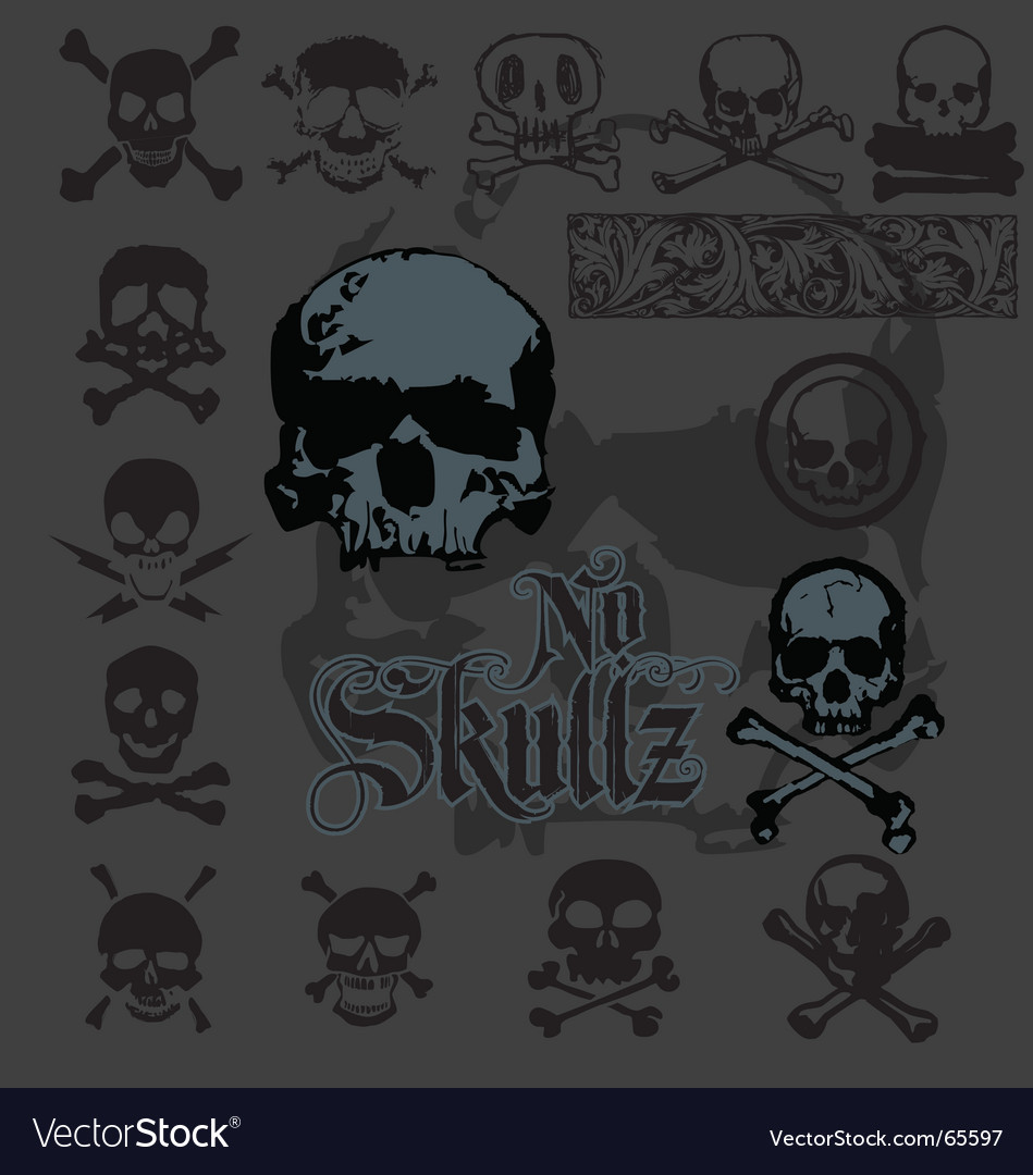 Skull-icons vector | Price: 1 Credit (USD $1)