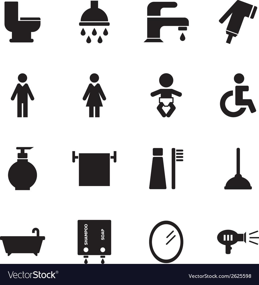 Bathroom icon vector   Price: 1 Credit (USD $1)