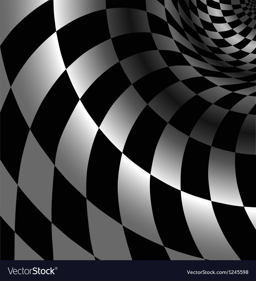 Checkered abstract background with perspective vector | Price: 1 Credit (USD $1)