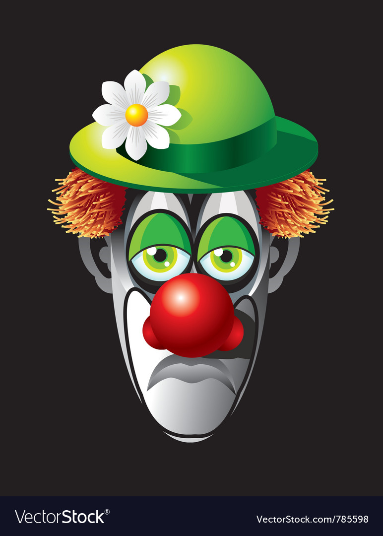 Clown face vector | Price: 3 Credit (USD $3)
