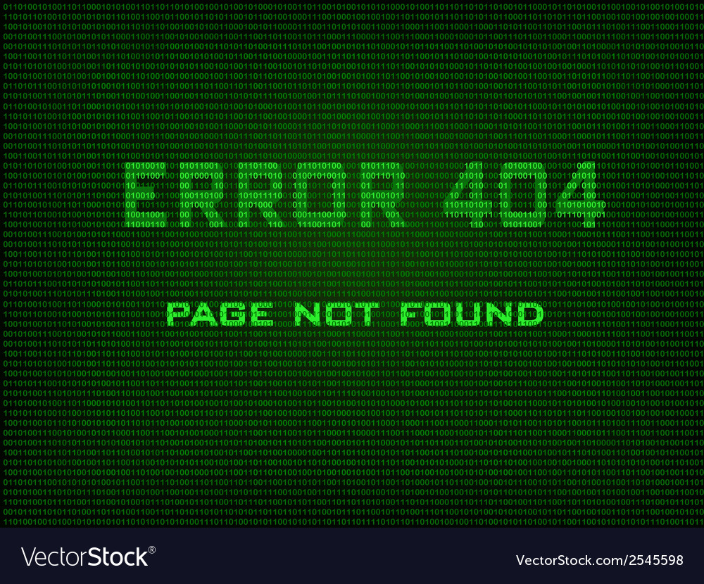 Error 404 page not found vector | Price: 1 Credit (USD $1)