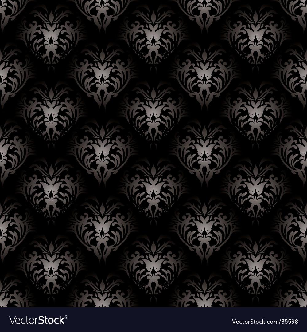Floral gothic black vector | Price: 1 Credit (USD $1)