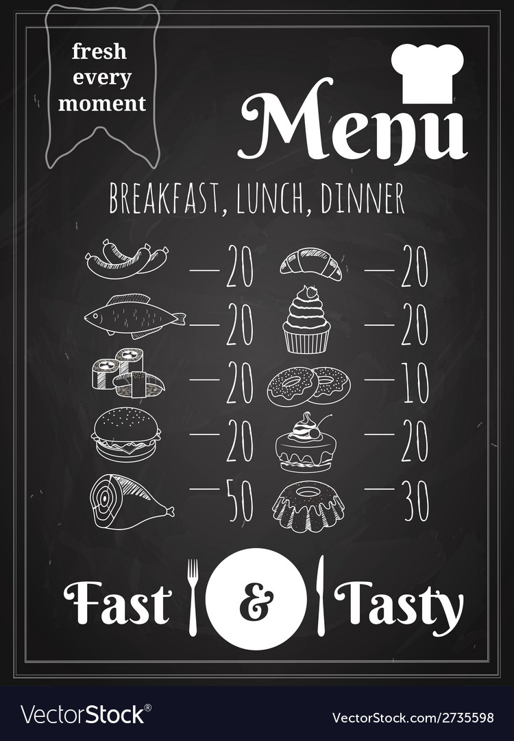 Food menu poster design vector | Price: 1 Credit (USD $1)