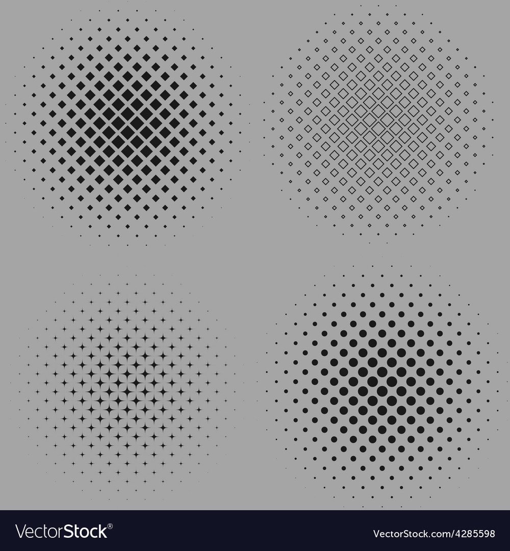 Four of a dotted halftone vector | Price: 1 Credit (USD $1)