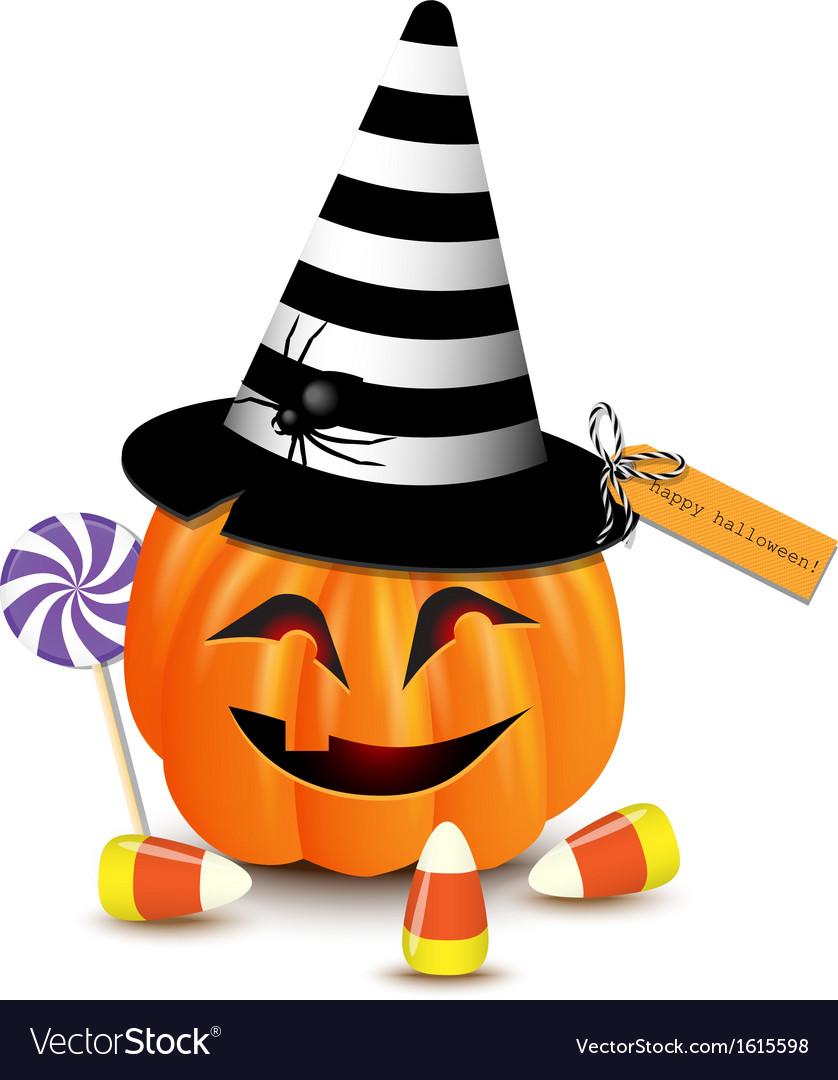 Halloween funny pumpkin vector | Price: 1 Credit (USD $1)