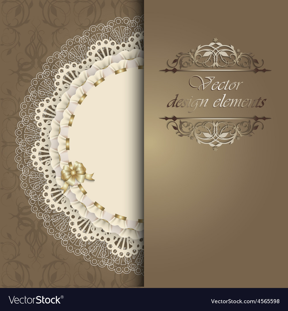 Luxury design elements with a napkin vector | Price: 1 Credit (USD $1)