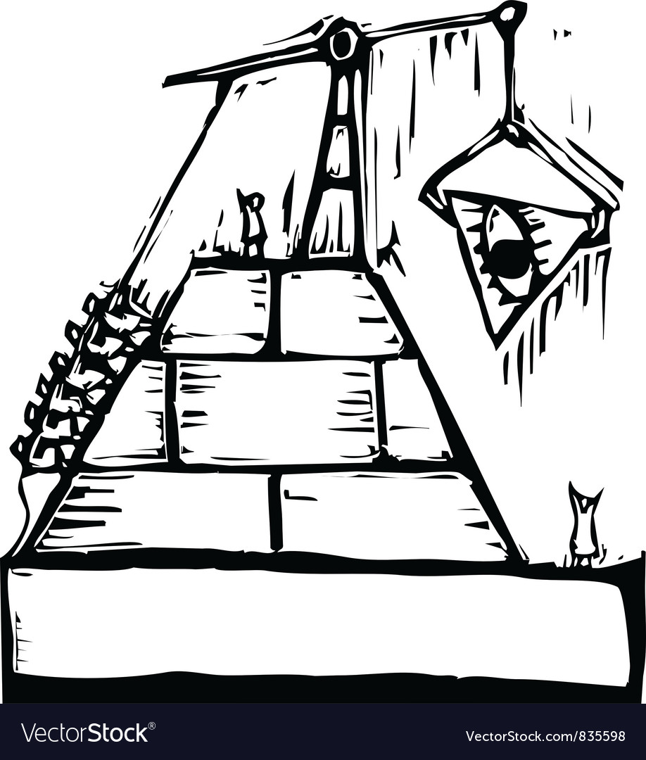 Masonic pyramid construction vector | Price: 1 Credit (USD $1)
