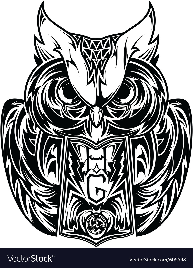 Owl tattoo vector | Price: 3 Credit (USD $3)