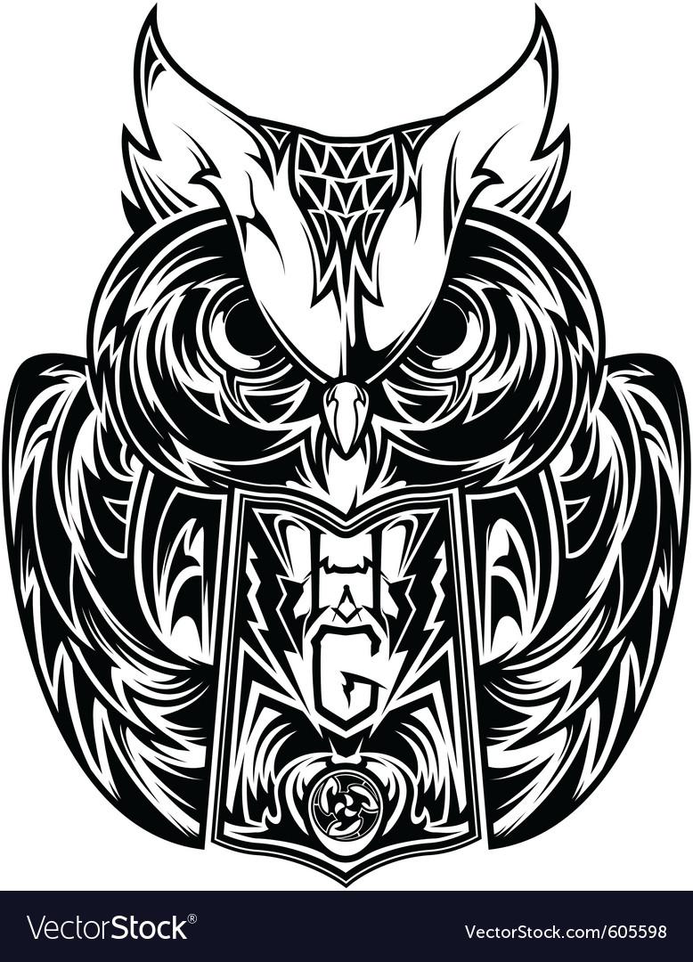 Owl tattoo vector | Price: 3 Credit (USD $3)