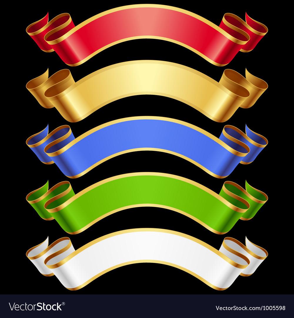 Ribbons set vector | Price: 1 Credit (USD $1)