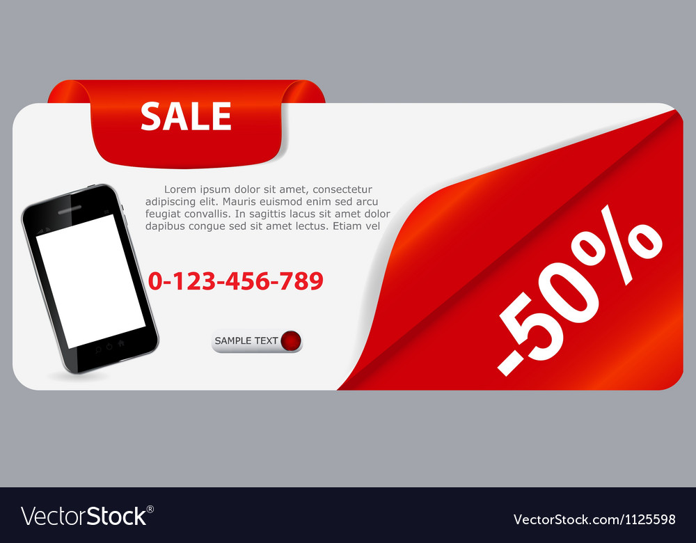 Sale banner with place for your text vector | Price: 1 Credit (USD $1)