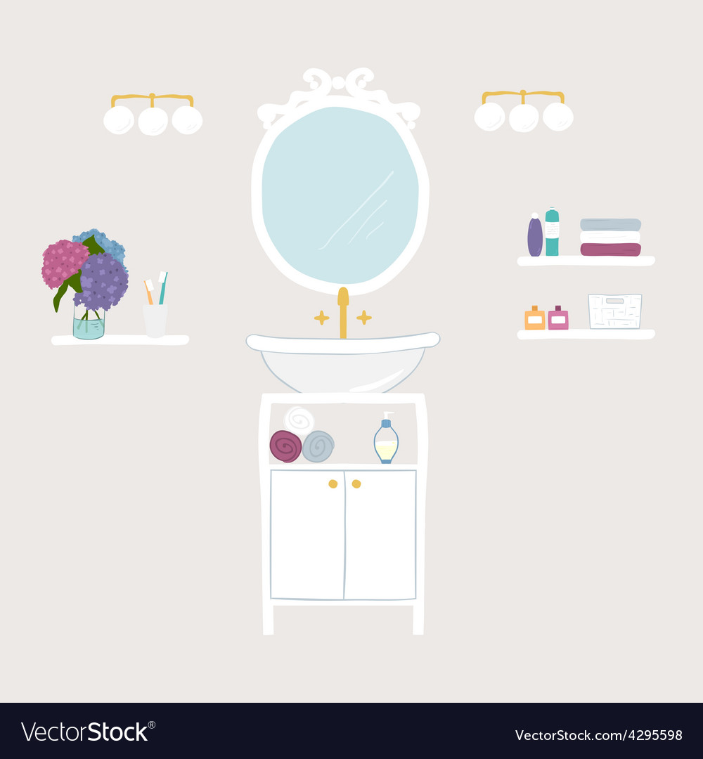 Set of bathroom and personal hygiene icons vector | Price: 1 Credit (USD $1)